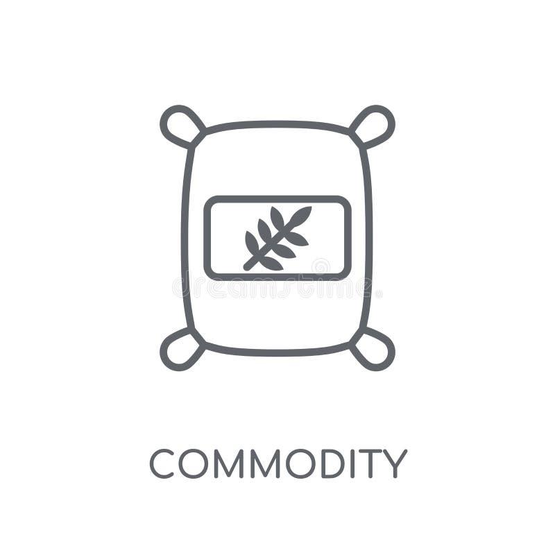 Lineare Ikone der Ware Modernes Entwurf Waren-Logokonzept an stock abbildung