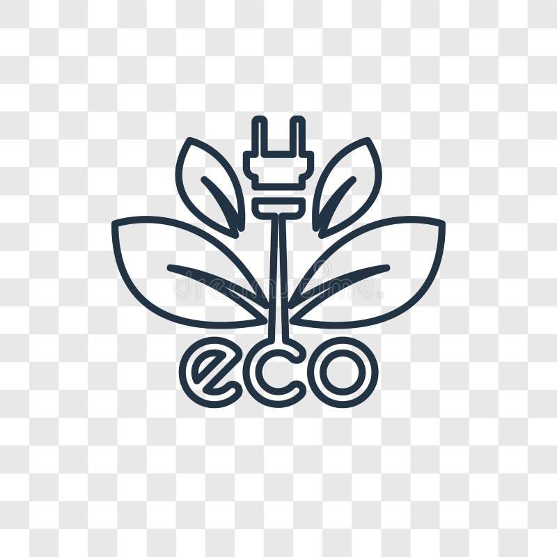 Lineare Ikone des ökologischen Energiequellkonzeptvektors an lokalisiert lizenzfreie abbildung