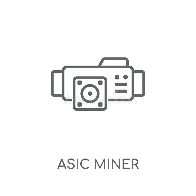 lineare Ikone des asic Bergmannes Bergmann-Logokonzept O des modernen Entwurfs asic stock abbildung