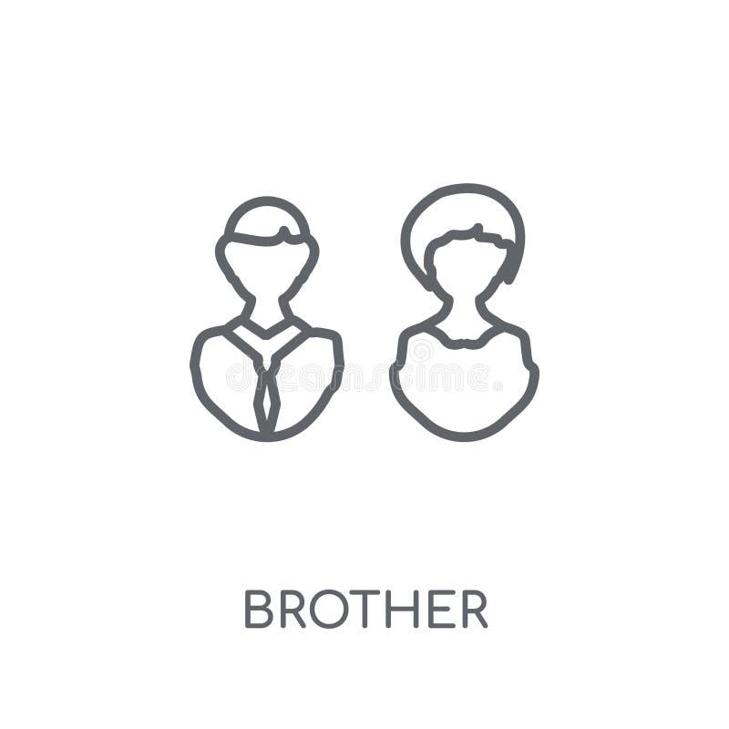 lineare Ikone des Bruders Modernes Entwurfsbruder-Logokonzept auf Whit lizenzfreie abbildung