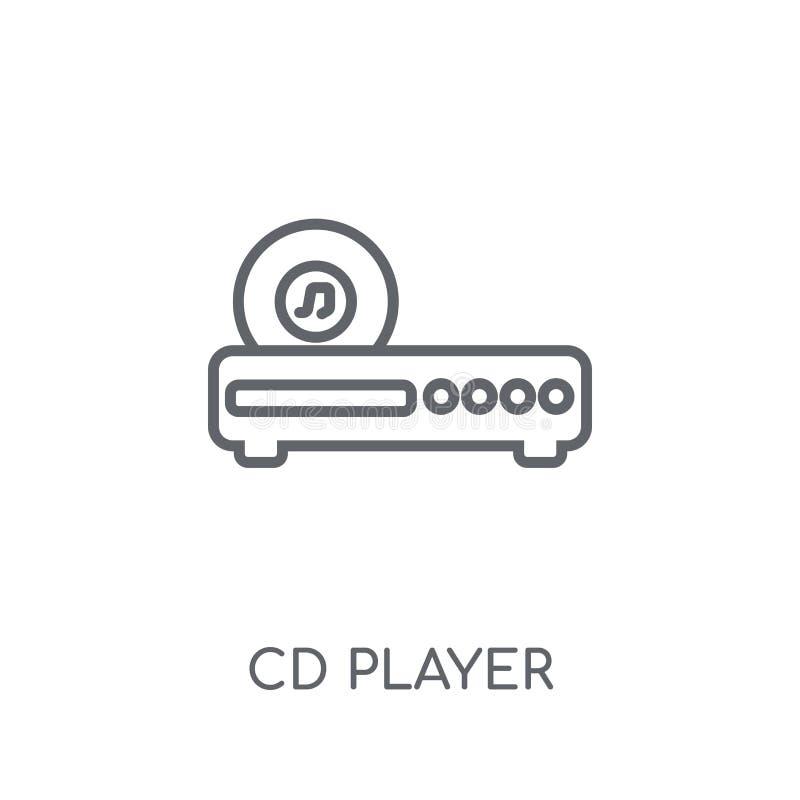 Lineare Ikone des CD-Players Modernes Entwurf CD-Player-Logokonzept an lizenzfreie abbildung