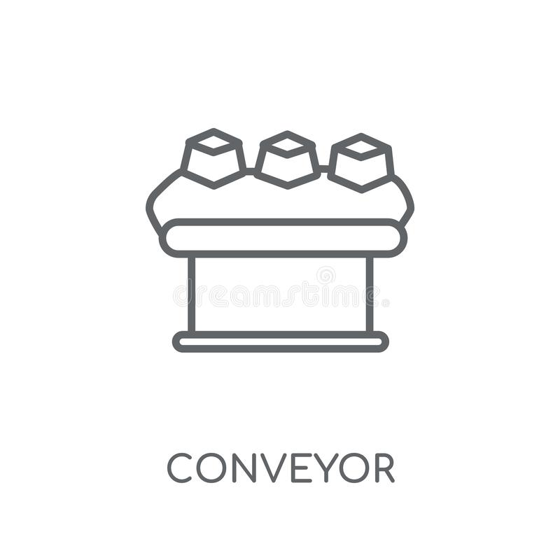 Lineare Ikone des Förderers Modernes Entwurf Förderer-Logokonzept auf wh vektor abbildung