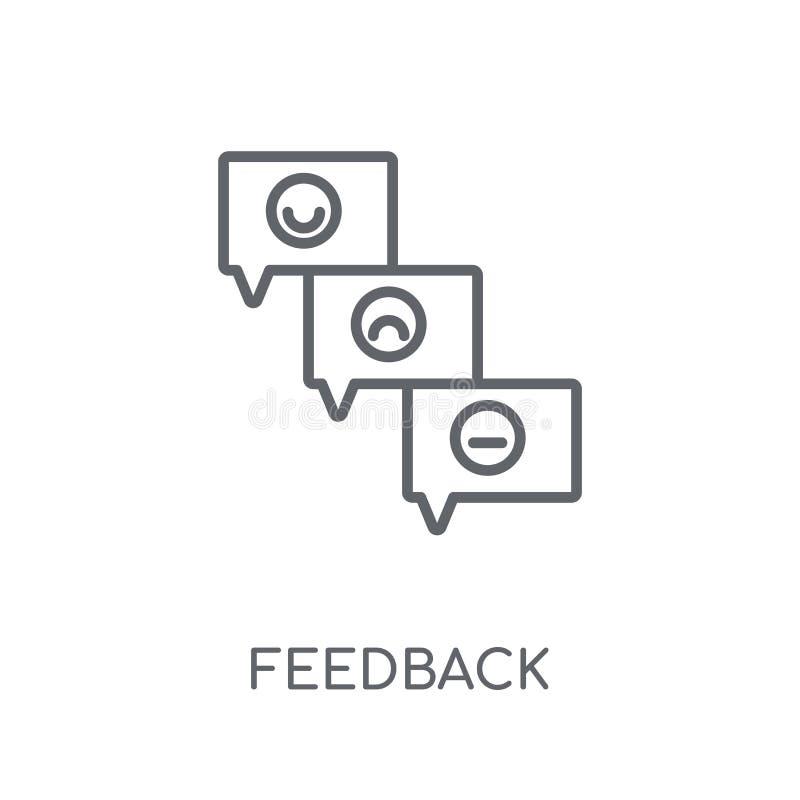 Lineare Ikone des Feedbacks Modernes Entwurf Feedback-Logokonzept auf wh vektor abbildung
