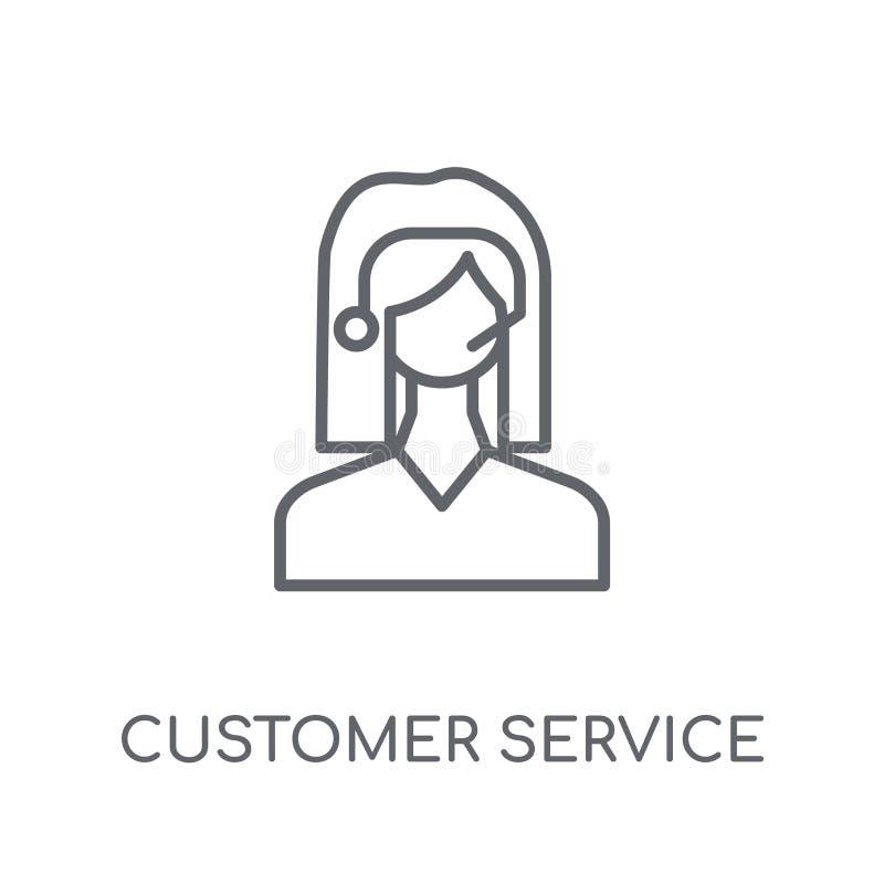 Lineare Ikone des Kundendiensts Modernes Entwurf Kundendienst lo stock abbildung
