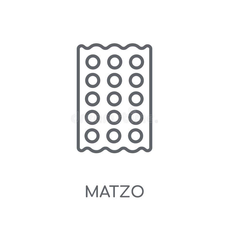 Lineare Ikone des Matzo Modernes Entwurf Matzo-Logokonzept auf weißem Ba lizenzfreie abbildung