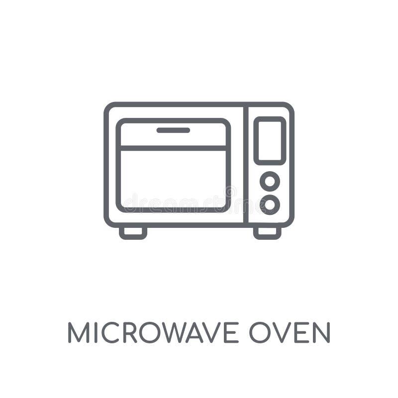 Lineare Ikone des Mikrowellenherds Modernes Entwurf Mikrowellenherdlogo c vektor abbildung