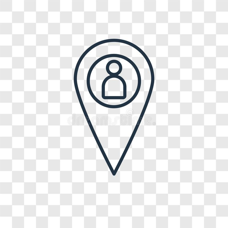 Lineare Ikone des Placeholderkonzept-Vektors lokalisiert auf transparentem b lizenzfreie abbildung