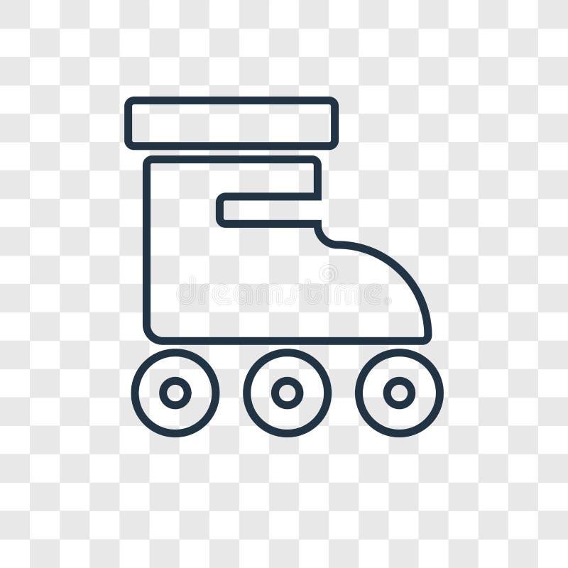 Lineare Ikone des Rollenkonzept-Vektors lokalisiert auf transparentem backgr stock abbildung