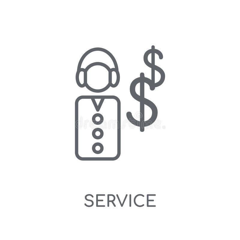 Lineare Ikone des Services Modernes Entwurf Service-Logokonzept auf Whit lizenzfreie abbildung