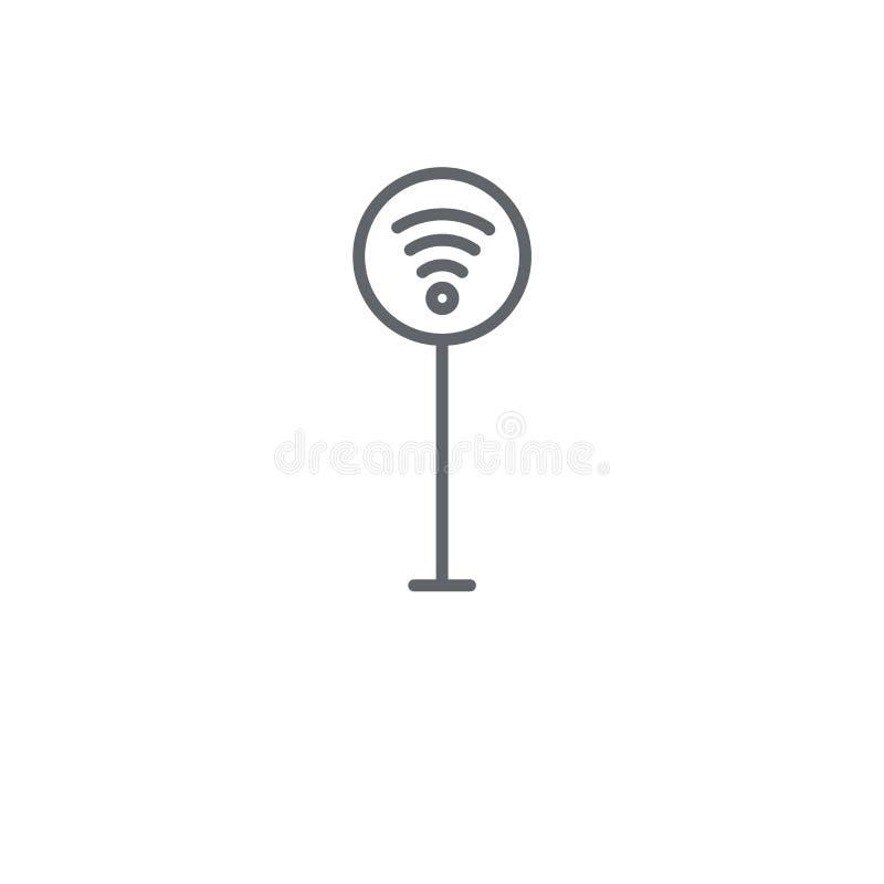 Lineare Ikone des Signalzeichens Modernes Entwurf Signalzeichen-Logokonzept lizenzfreie abbildung