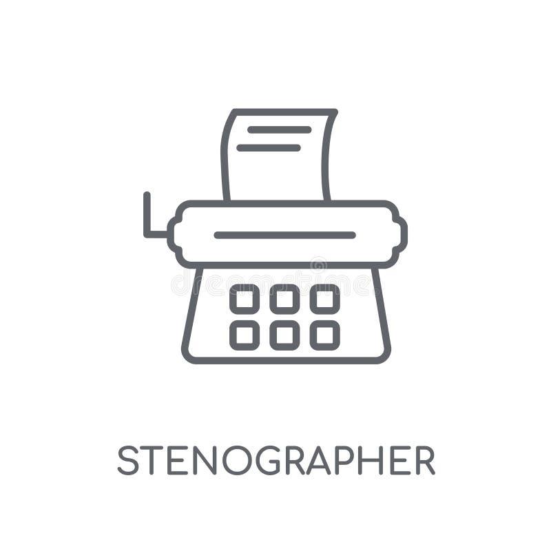 Lineare Ikone des Stenografen Modernes Entwurf Stenograf-Logo conce vektor abbildung