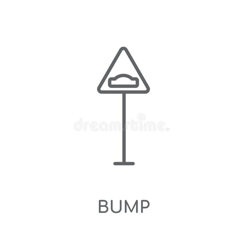 Lineare Ikone des Stoßzeichens Modernes Entwurf Stoßzeichen-Logokonzept an stock abbildung