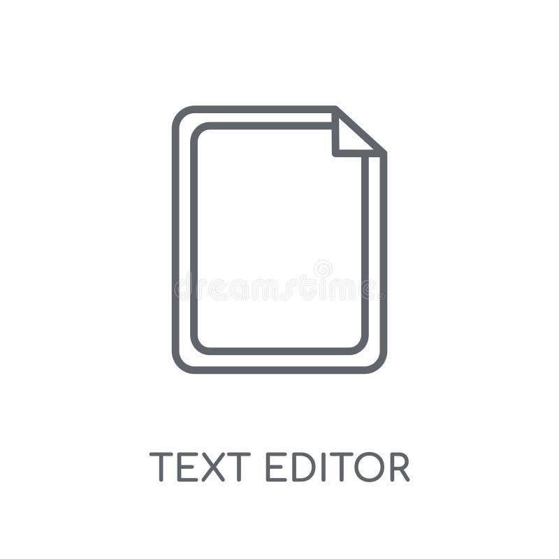 Lineare Ikone des Texteditors Modernes Entwurf Texteditor-Logokonzept vektor abbildung