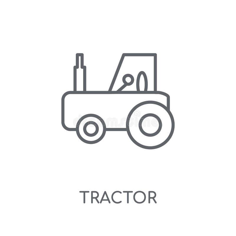 Lineare Ikone des Traktors Modernes Entwurf Traktor-Logokonzept auf Whit lizenzfreie abbildung