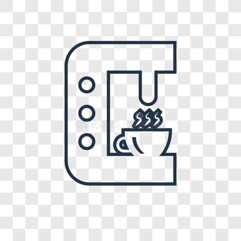Lineare Ikone des Tropfenfängerkonzept-Vektors lokalisiert auf transparentem backgrou vektor abbildung
