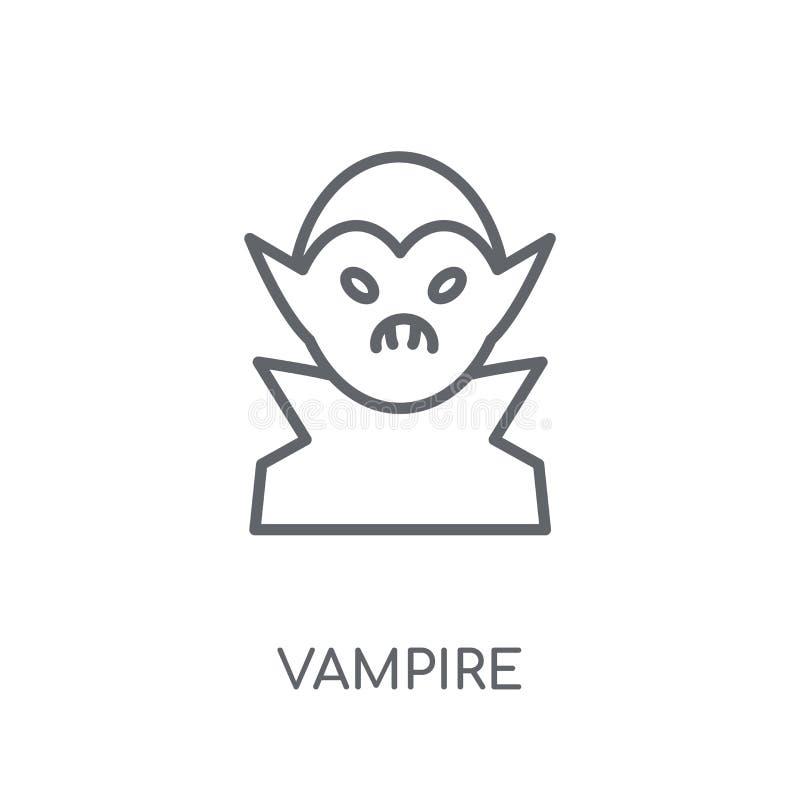 Lineare Ikone des Vampirs Modernes Entwurf Vampirs-Logokonzept auf Whit stock abbildung