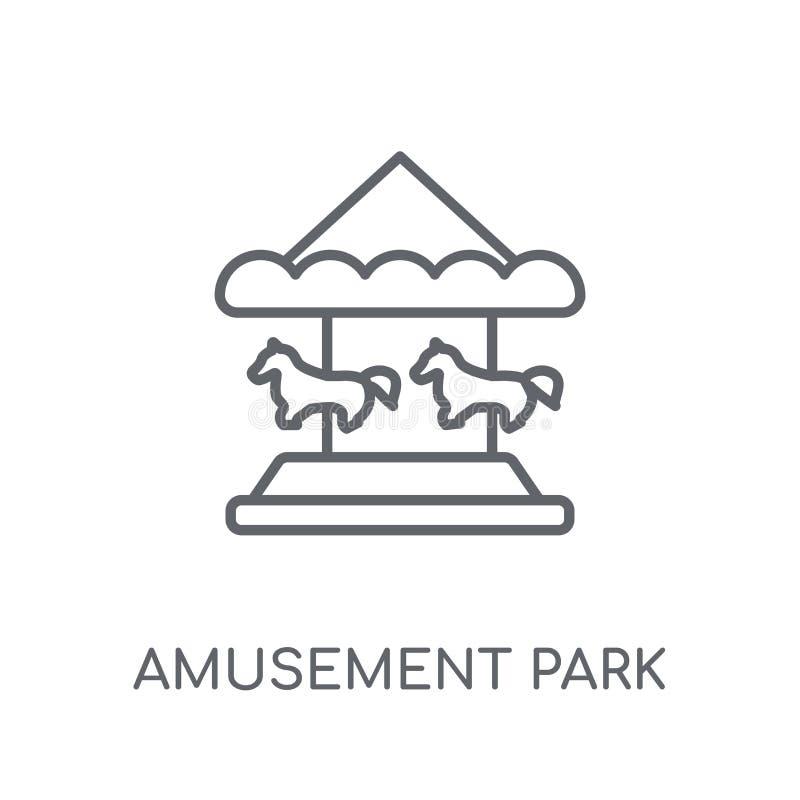 Lineare Ikone des Vergnügungsparks Modernes Entwurf Vergnügungsparklogo c stock abbildung
