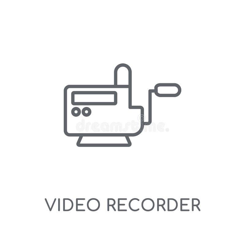 Lineare Ikone des Videorecorders Modernes Entwurf Videorecorderlogo c stock abbildung