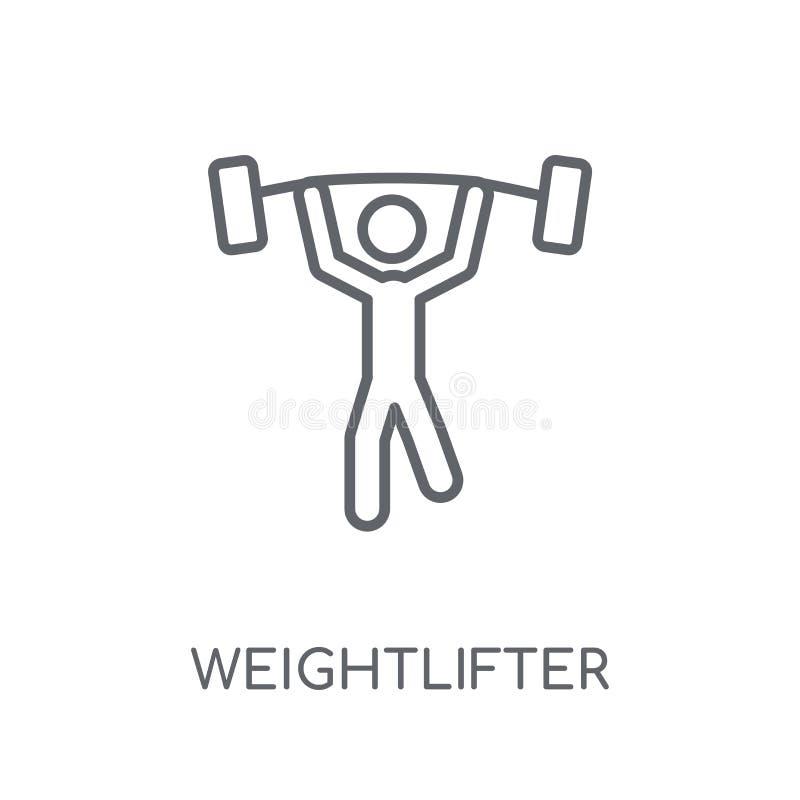 Lineare Ikone des Weightlifter Modernes Entwurf Weightlifter-Logo conce vektor abbildung