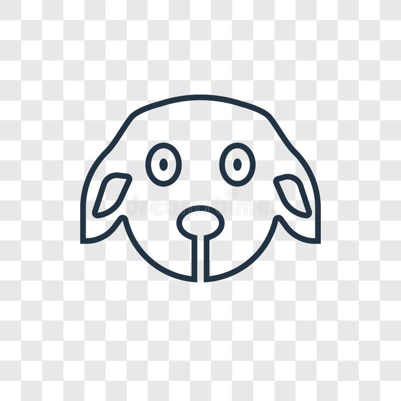 Lineare Ikone des Welpenspielzeugkonzept-Vektors lokalisiert auf transparentem BAC lizenzfreie abbildung