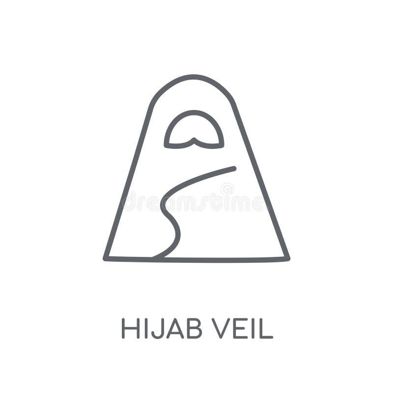 Lineare Ikone Hijab-Schleiers Modernes Entwurf Hijab-Schleier-Logokonzept O lizenzfreie abbildung