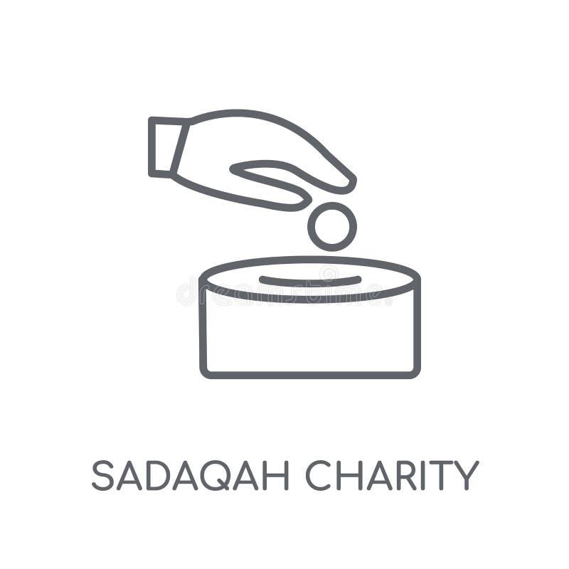 Lineare Ikone Sadaqah-Nächstenliebe Modernes Entwurf Sadaqah-Nächstenliebelogo lizenzfreie abbildung