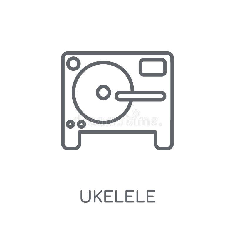 Lineare Ikone Ukelele Modernes Entwurf Ukelele-Logokonzept auf Whit stock abbildung