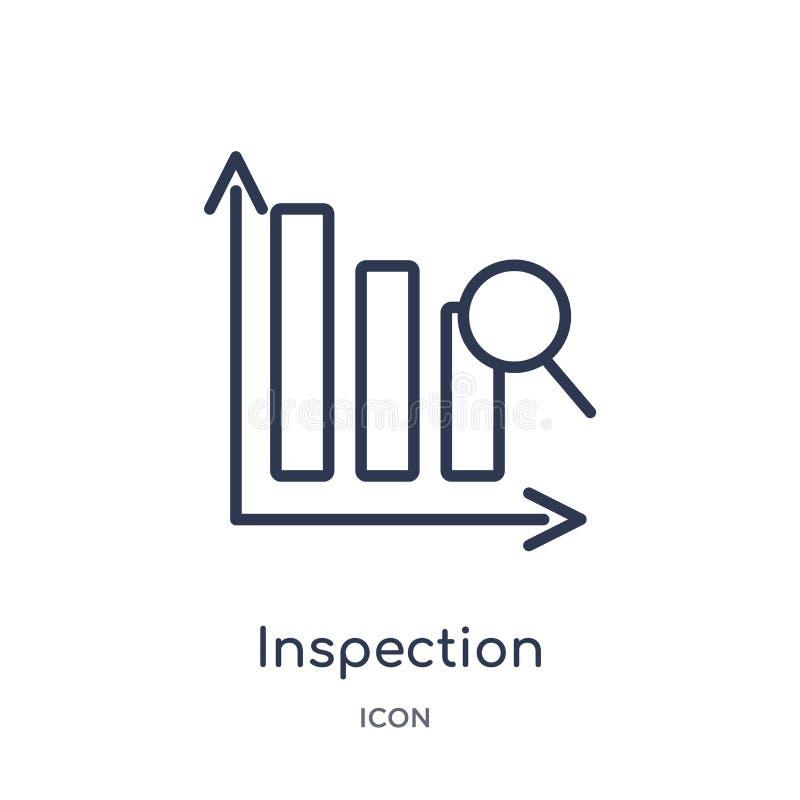 Lineare Inspektionsikone von der Lieferung und von der logistischen Entwurfssammlung Dünner Zwischenprüfungsvektor lokalisiert au stock abbildung