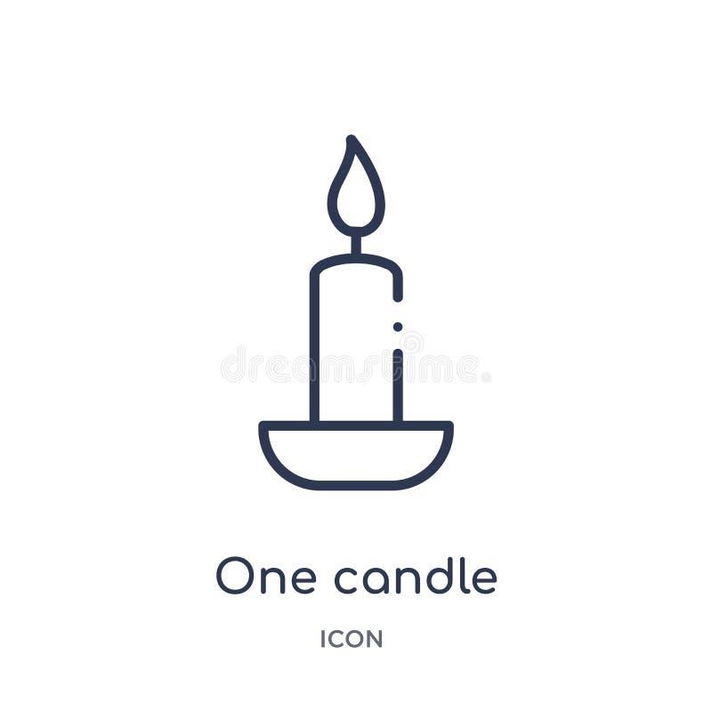 Lineare Kerzenikone von der Schönheitsentwurfssammlung Dünne Linie ein Kerzenvektor lokalisiert auf weißem Hintergrund eine Kerze lizenzfreie abbildung
