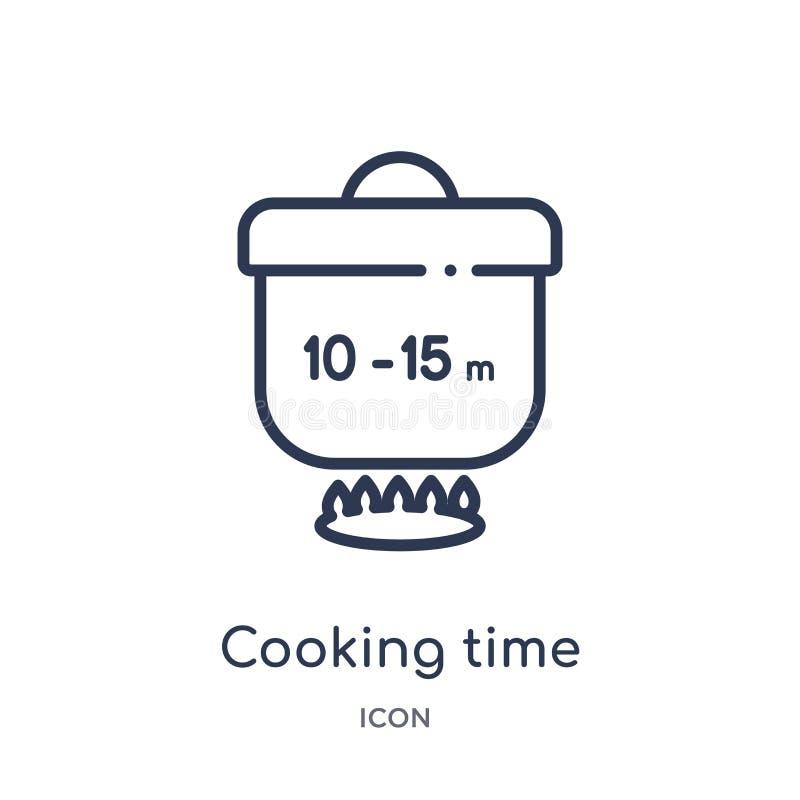 Lineare Kochzeitikone von der Fastfoodentwurfssammlung Dünne Linie Kochzeitvektor lokalisiert auf weißem Hintergrund kochen lizenzfreie abbildung