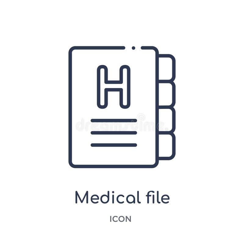 Lineare Krankengeschichteikone von der Gesundheit und von der medizinischen Entwurfssammlung Dünne Linie Krankengeschichteikone l vektor abbildung