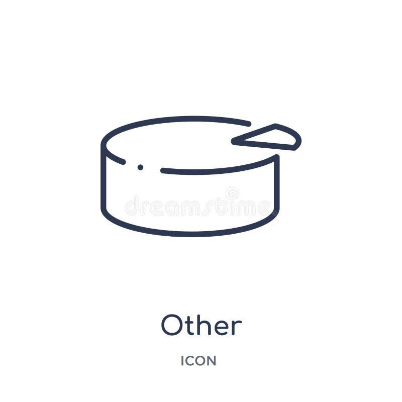 Lineare l'altra icona dalla raccolta contenta del profilo Linea sottile l'altro vettore isolato su fondo bianco l'altra illustraz royalty illustrazione gratis