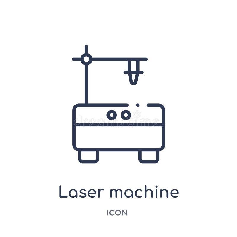 Lineare Laser-Maschinenikone von der Entwurfssammlung der elektronischen Geräte Dünne Linie Laser-Maschinenvektor lokalisiert auf stock abbildung