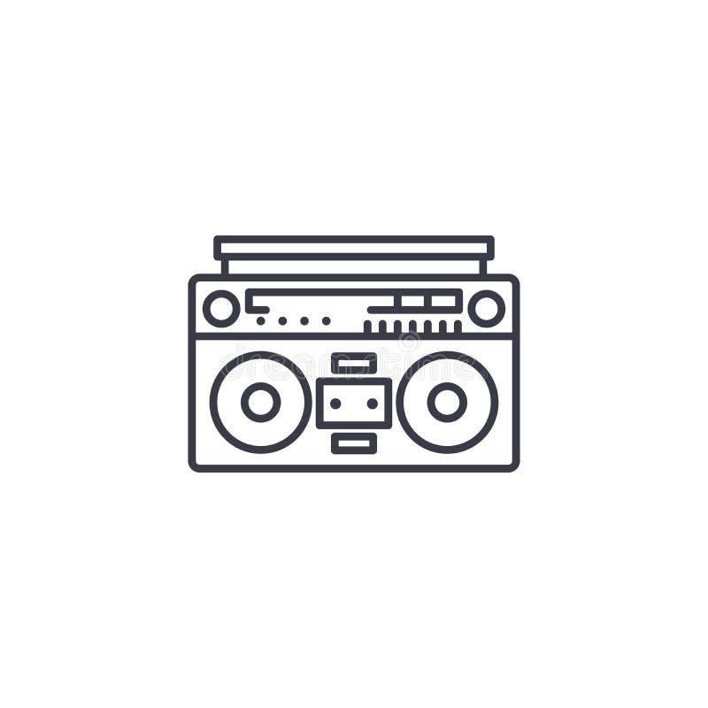 Lineares Ikonenkonzept des Tonbandgeräts Tonbandgerätlinie Vektorzeichen, Symbol, Illustration vektor abbildung