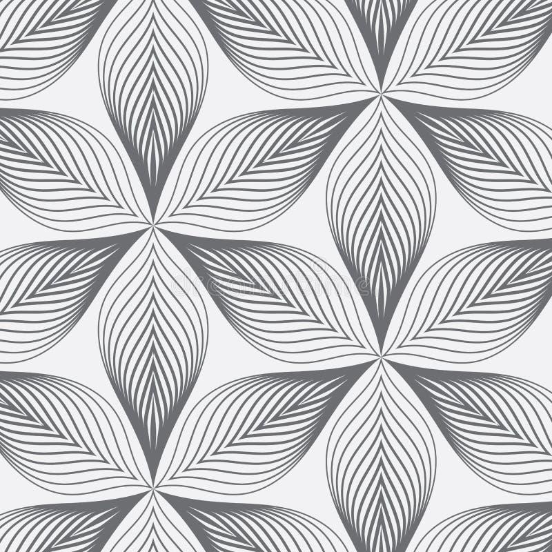 lineares muster abstrakte bl tter wiederholend stock abbildung illustration von kunst blatt. Black Bedroom Furniture Sets. Home Design Ideas