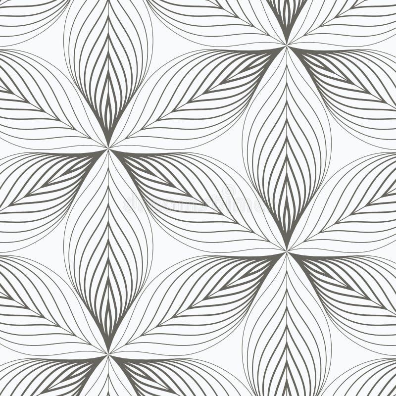 Lineares Vektormuster, Zusammenfassung wiederholend ein lineares Blatt jedes, das auf Hexagonform einkreist vektor abbildung