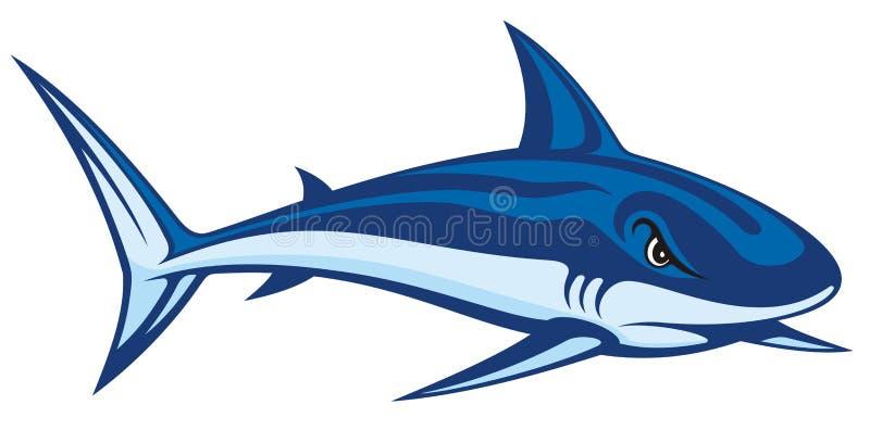 lineart鲨鱼 向量例证