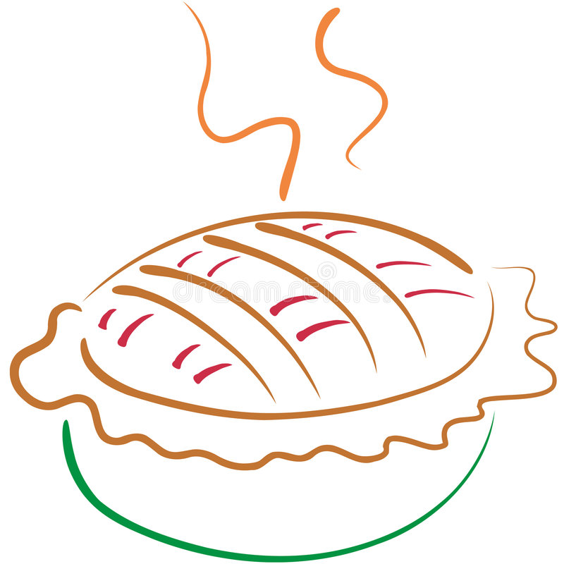 lineart apple pie