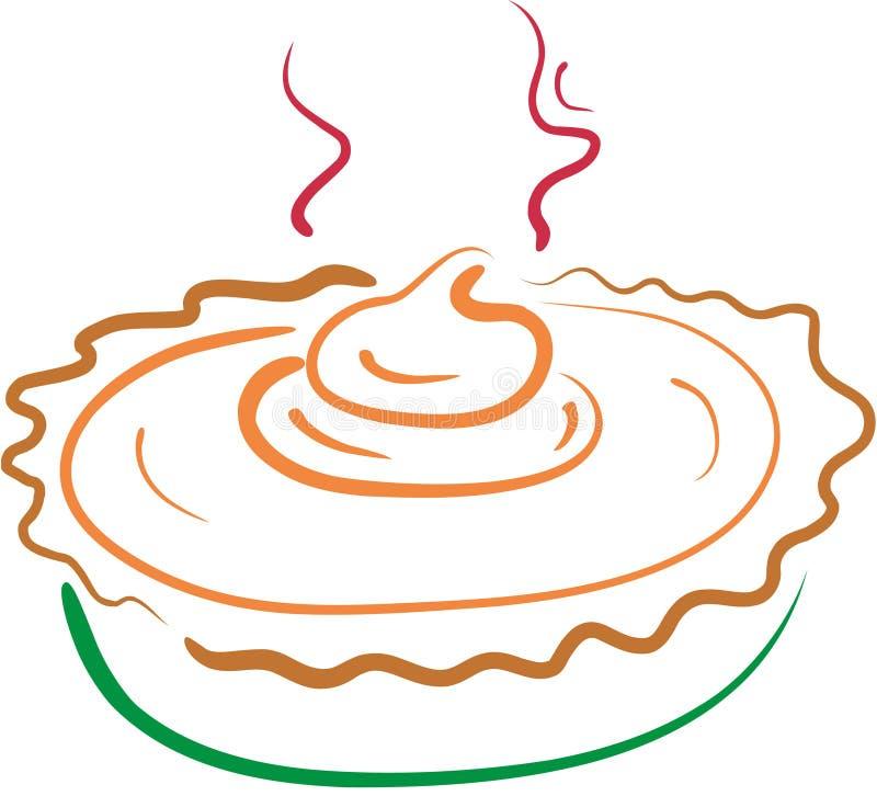 Lineart da torta de abóbora ilustração stock