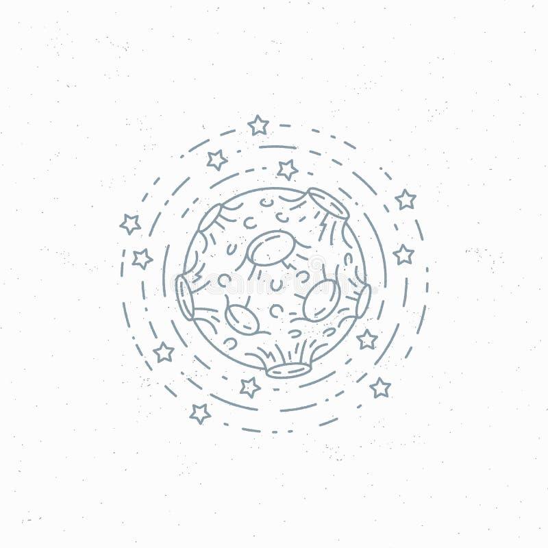 Lineart księżyc symbol ilustracji