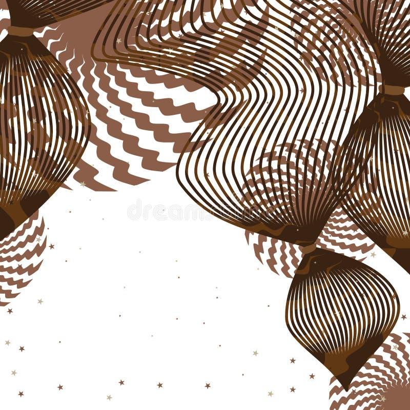 Linecard волос шоколада иллюстрация штока