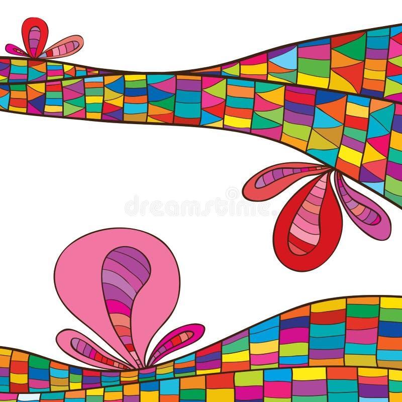 Linecard rośliny kwiat kolorowy ilustracji