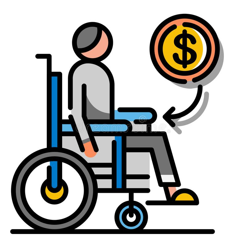 LineColor för invaliditetfördel illustration royaltyfri illustrationer