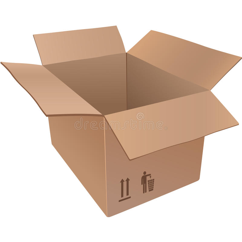 Lined cardboard boxes royalty free stock image