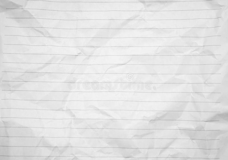 Lined Crumpled White Paper Background Image Photo Stock ...