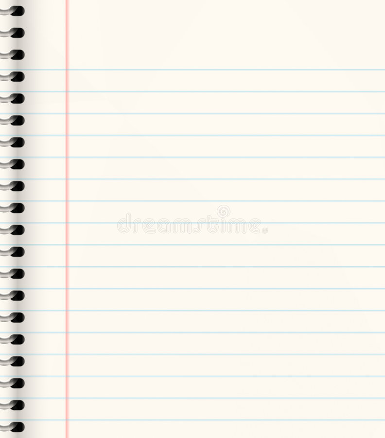 Free Lined Note Or School Book Royalty Free Stock Photo - 3012355