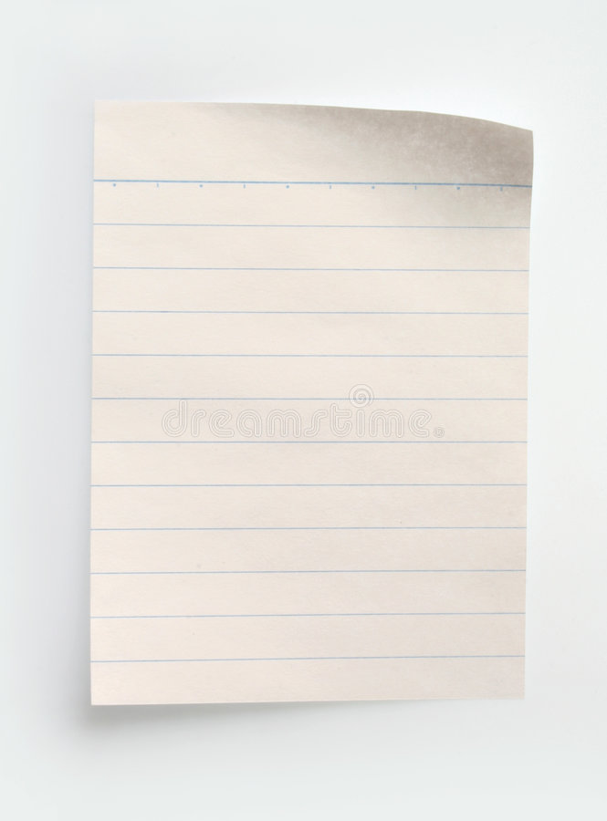 Download Lined Notebook Paper stock photo. Image of book, legal - 395494