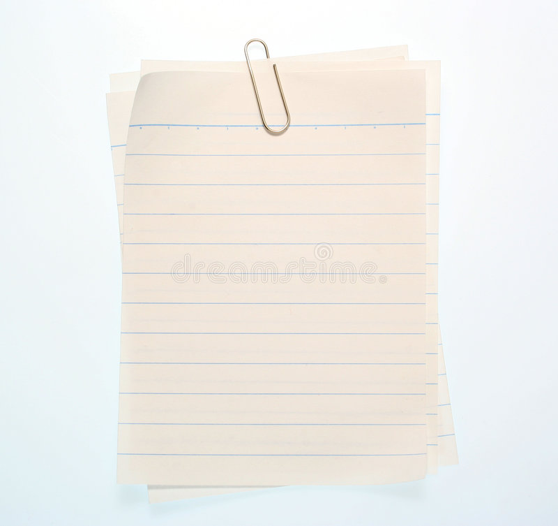 Free Lined Notebook Paper Royalty Free Stock Photography - 426307