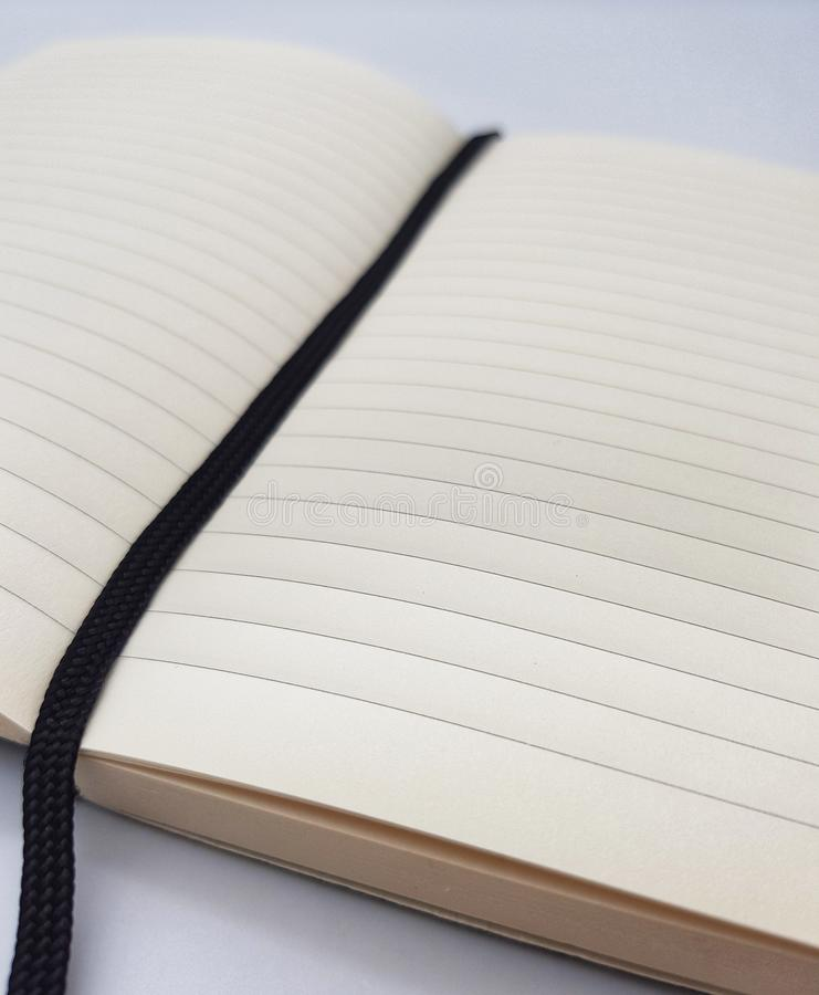 Lined notepad with bookmark royalty free stock photos