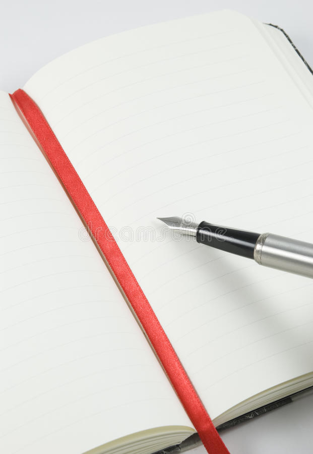 Download Lined Open Notepad With Pen Stock Image - Image: 10446199